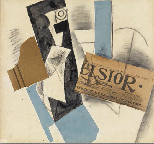 picasso bouteille et journal