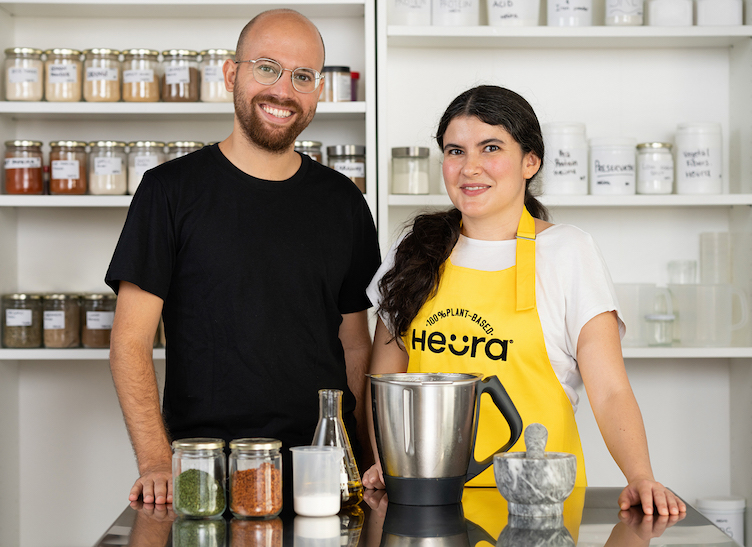 marc coloma heura ceo and founder and lorena salcedo npd manager at heura copie